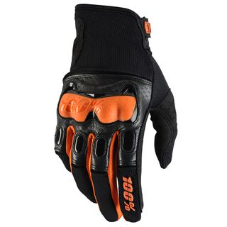100% Derestricted Black/Orange Gloves