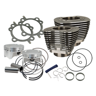 """S&S 107"""" Bolt-In Big Bore Kit for 2007-'17 HD Big Twins (except '17 touring) - Wrinkle Black Finish"""