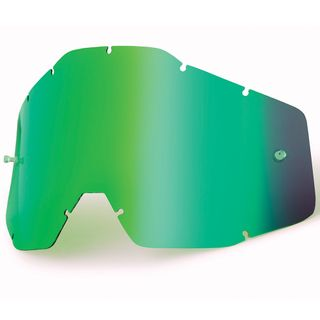 100% Accuri & Strata Youth Green Mirror Lens