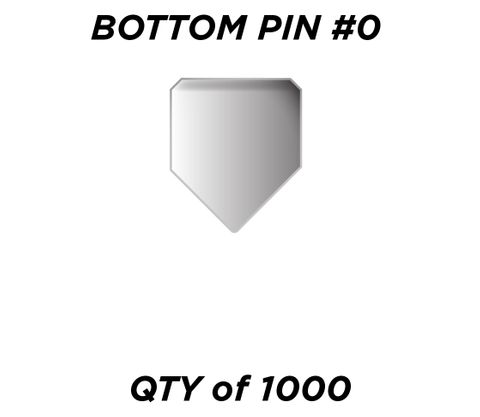 """BOTTOM PIN #0 *SILVER* (0.150"""") - QTY of 1000"""