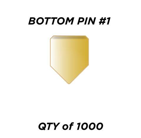 "BOTTOM PIN #1 *GOLD* (0.165"") - QTY of 1000"