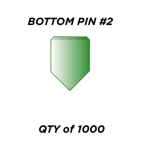 "BOTTOM PIN #2 *GREEN* (0.180"") - QTY of 1000"