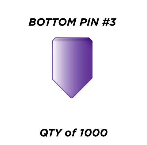 """BOTTOM PIN #3 *PURPLE* (0.195"""")- QTY of 1000"""