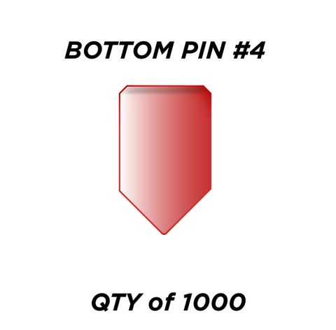 """BOTTOM PIN #4 *RED* (0.210"""") - QTY of 1000"""