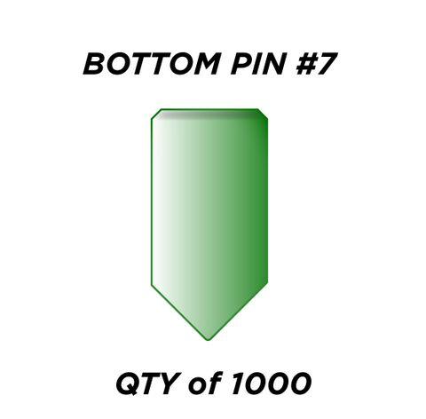 "BOTTOM PIN #7 *GREEN* (0.255"") - QTY of 1000"