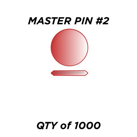 """MASTER PIN #2 *RED* (0.030"""") - QTY of 1000"""