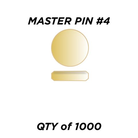 """MASTER PIN #4 *GOLD* (0.060"""") - QTY of 1000"""