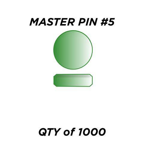 "MASTER PIN #5 *GREEN* (0.075"") - QTY of 1000"