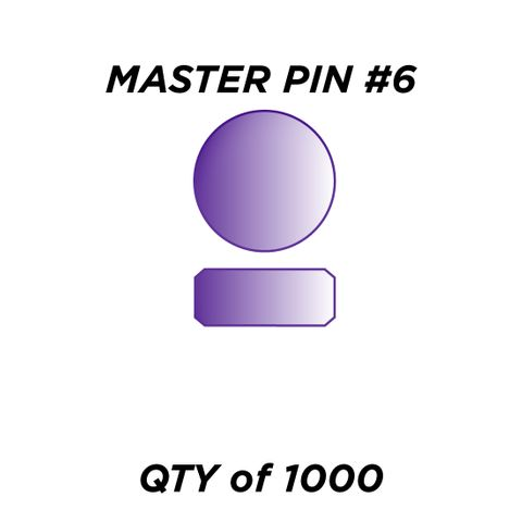 """MASTER PIN #6 *PURPLE* (0.090"""") - QTY of 1000"""