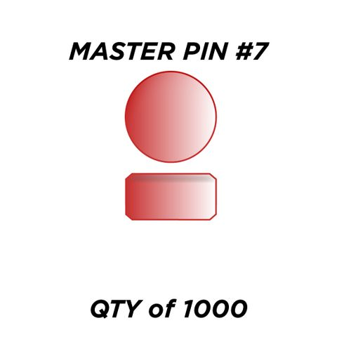 """MASTER PIN #7 *RED* (0.105"""") - QTY of 1000"""