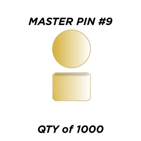 """MASTER PIN #9 *GOLD* (0.135"""") - QTY of 1000"""
