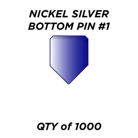 """NIC. SIL. BOTTOM PIN #1 *BLUE* (0.165"""") - QTY of 1000"""