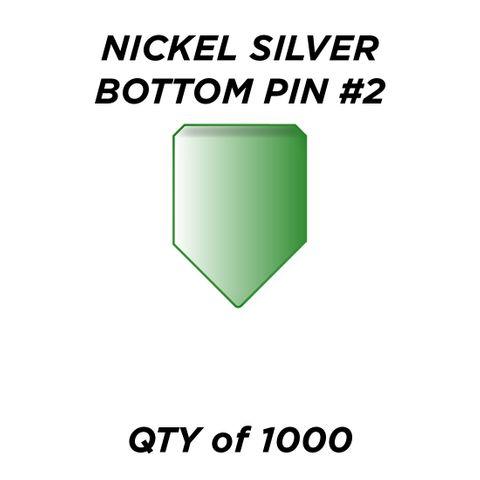 """NIC. SIL. BOTTOM PIN #2 * GREEN* (0.180"""") - QTY of 1000"""