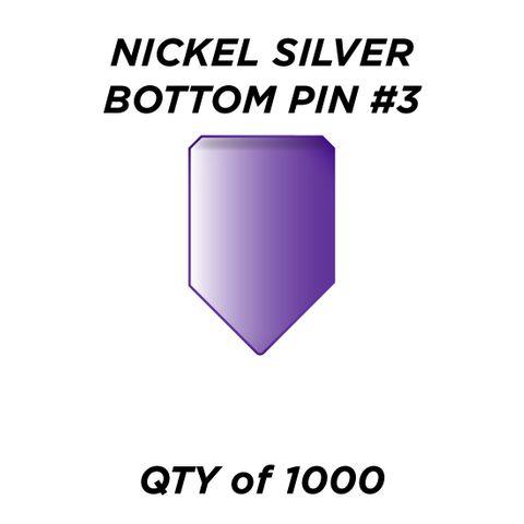 "NIC. SIL. BOTTOM PIN #3 *PURPLE* (0.195"") - QTY of 1000"
