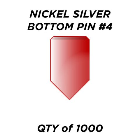 """NIC. SIL. BOTTOM PIN #4 *RED* (0.210"""")- QTY of 1000"""