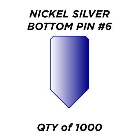 """NIC. SIL. BOTTOM PIN #6 *BLUE* (0.240"""") - QTY of 1000"""