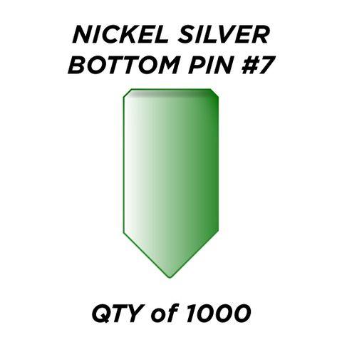 """NIC. SIL. BOTTOM PIN #7 *GREEN* (0.255"""") - QTY of 1000"""