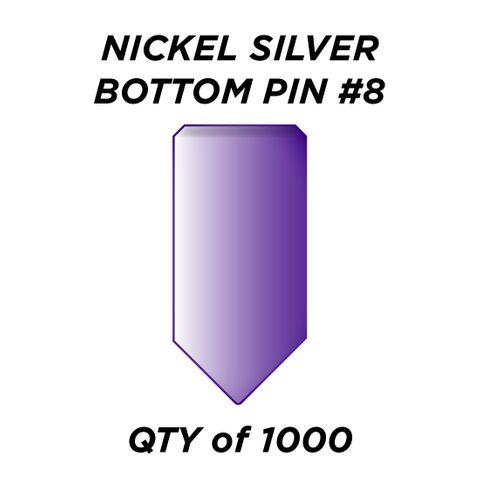 "NIC. SIL. BOTTOM PIN #8 *PURPLE* (0.270"") - QTY of 1000"