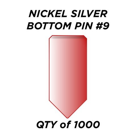 """NIC. SIL. BOTTOM PIN #9 *RED* (0.285"""")) - QTY of 1000"""