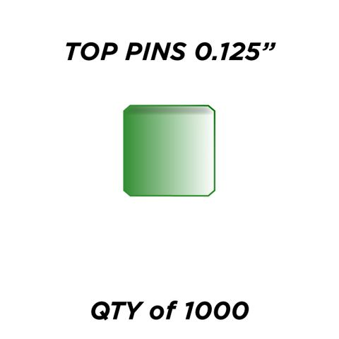 """TOP PIN *GREEN* (0.125"""") - QTY of 1000"""