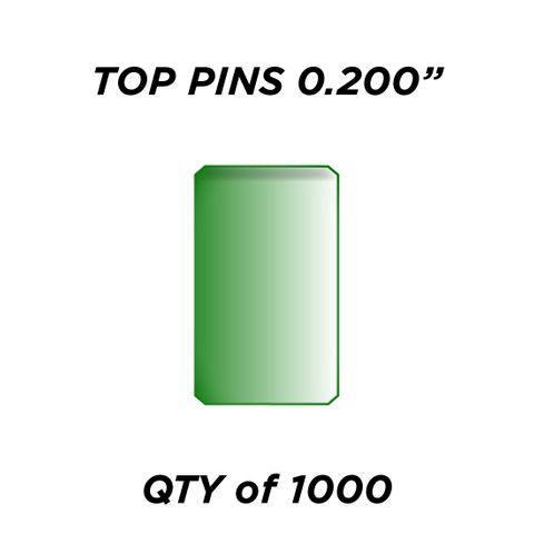 """TOP PIN *GREEN* (0.200"""") - QTY of 1000"""