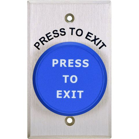 "PUSH BUTTON ""PRESS TO EXIT"""