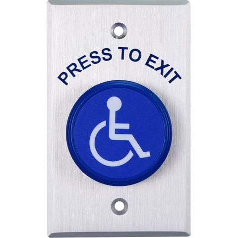 PUSH BUTTON - HANDICAP SYMBOL
