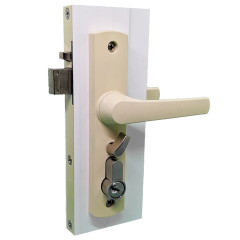 Hinged Security (Screen) Door Lock  -Primrose