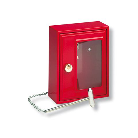 'Emergency' KEY CABINET - Single Hook (Glass Pane)