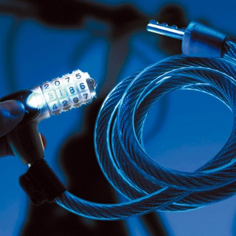 Combination BICYCLE CABLE - 180cm Long (12mm Dia.) *Illuminated*