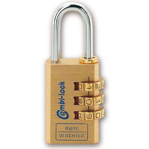 'Combi-Lock' 15mm  COMBI. PADLOCK - 3 Digit - CARDED