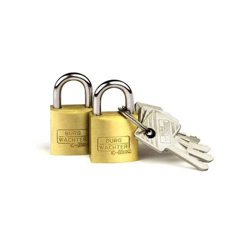 'C-Line' 30mm  PADLOCK * 2-PACK  - CARDED  (KA)