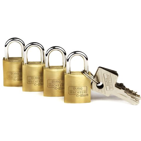 'C-Line' 15mm  PADLOCK * 4-PACK  - CARDED  (KA)