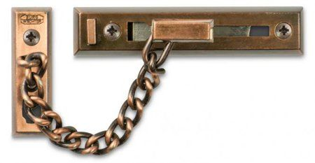 DOOR CHAIN - Heavy Duty *Antique Copper* (Carded)