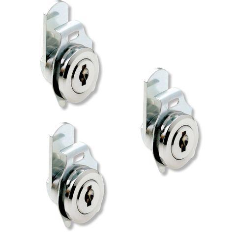 CAM-LOCK CYLINDER - 14 x 11mm *3-Pack* (KA)