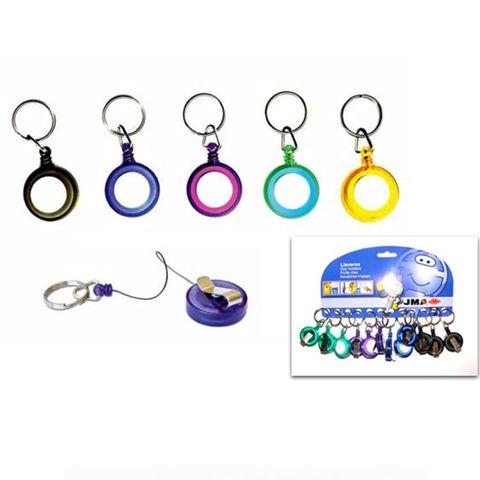 'Roller' Extendable KEY CHAIN - Ásst. Colours - Pkt of 12