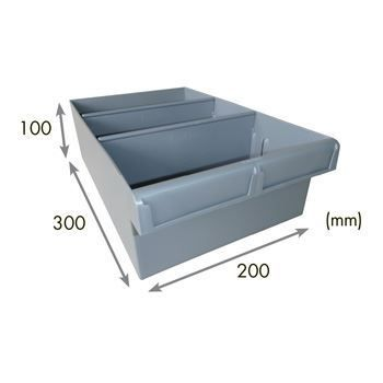 3-Compartment STORAGE TUB (Medium)