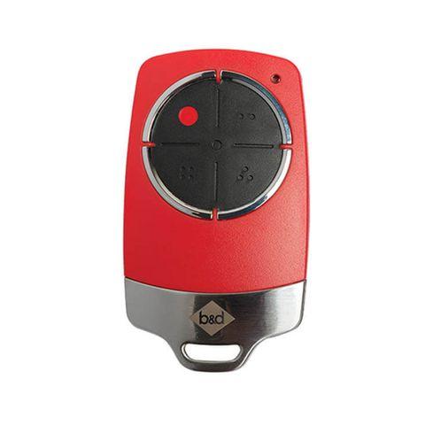 'B&D' - *RED Colour* Tri-Tran+ 4-Channel Premium Remote