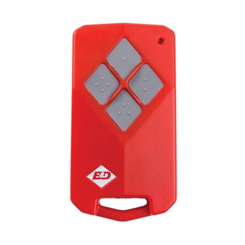 'B&D'  - 4-Channel - Red Body/Black Buttons (Like: RMDB02)