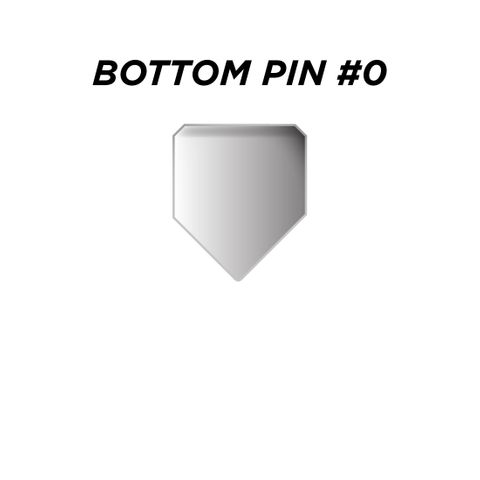 """BOTTOM PIN #0 *SILVER* (0.150"""") - Pkt of 144"""