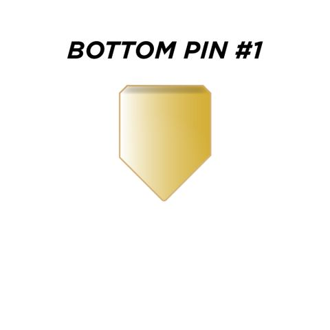 "BOTTOM PIN #1 *GOLD* (0.165"") - Pkt of 144"