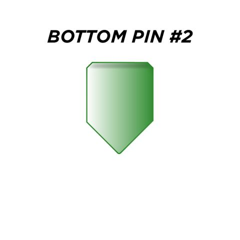 "BOTTOM PIN #2 *GREEN* (0.180"") - Pkt of 144"
