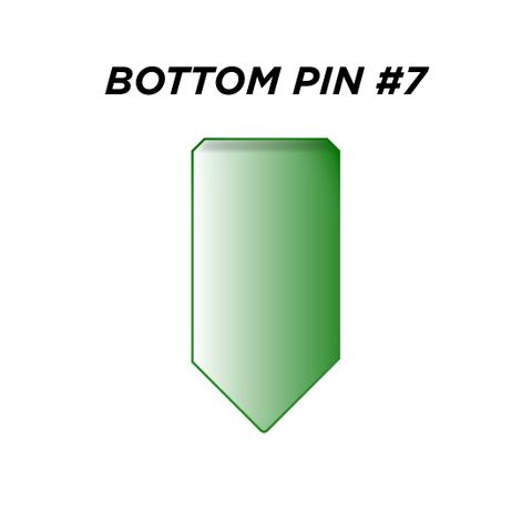 "BOTTOM PIN #7 *GREEN* (0.255"") - Pkt of 144"