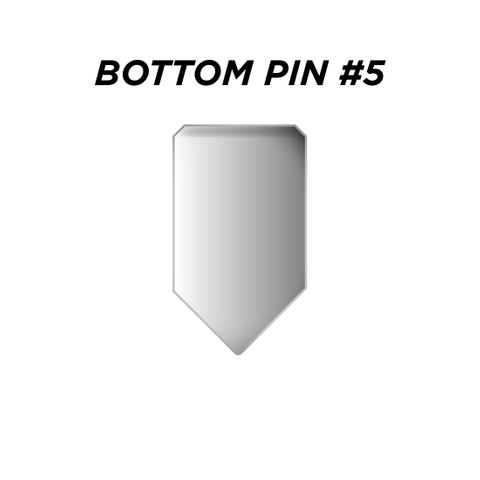 "BOTTOM PIN #5 *SILVER* (0.225"") - Pkt of 144"