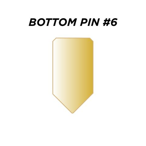 "BOTTOM PIN #6 *GOLD* (0.240"") - Pkt of 144"