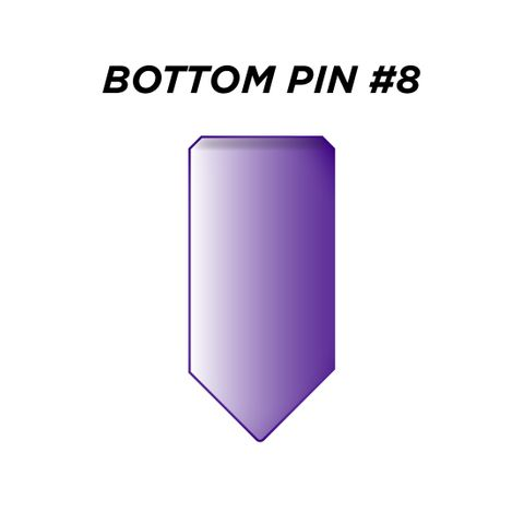 "BOTTOM PIN #8 *PURPLE* (0.270"") - Pkt of 144"