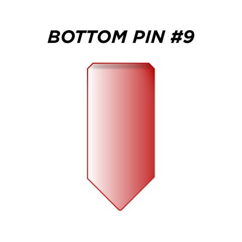 """BOTTOM PIN #9 *RED* (0.285"""") - Pkt of 144"""