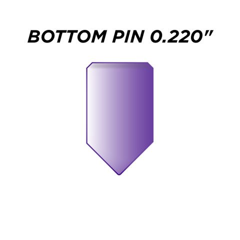 "SPEC. INC. BOTTOM PIN *PURPLE* (0.220"") - Pkt of 144"