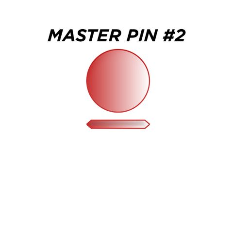 "MASTER PIN #2 *RED* (0.030"") - Pkt of 144"