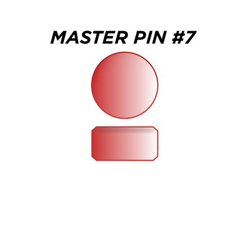 "MASTER PIN #7 *RED* (0.105"") - Pkt of 144"